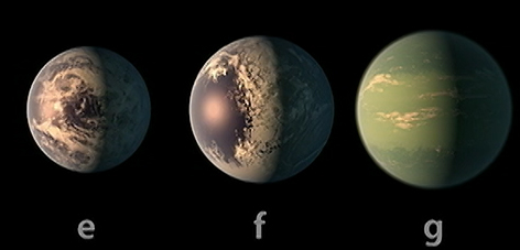 TRAPPIST 1 planets. Courtesy: NASA