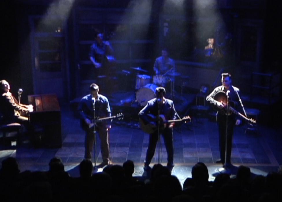 The Chicago cast of Million Dollar Quartet performs.